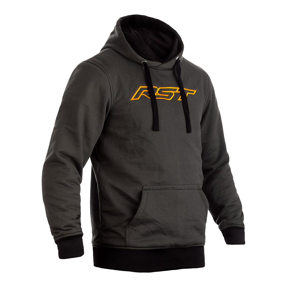 Reinforced Pullover Textile Hoodie