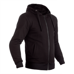 Reinforced Zip Through Textile Hoodie
