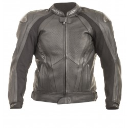 Men's leather motorbike jacket