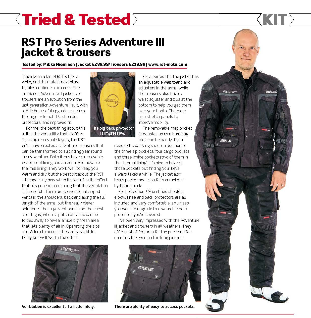 RST Pro Series Adventure 3 Trousers Black | Free UK Delivery