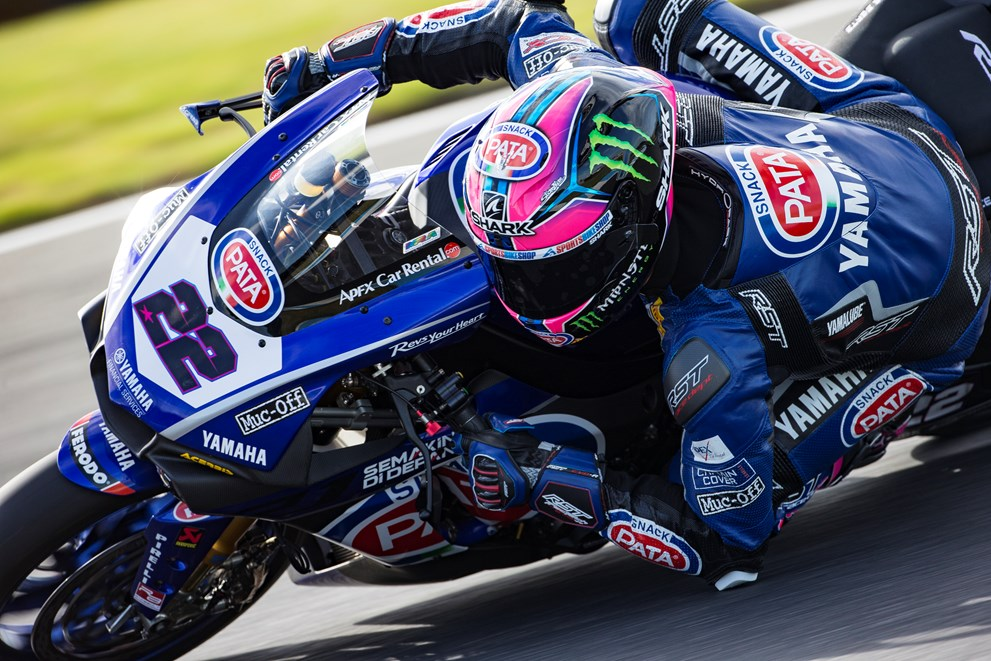 Pata Yamaha Show Fighting Spirit in Race 1 at Phillip Island